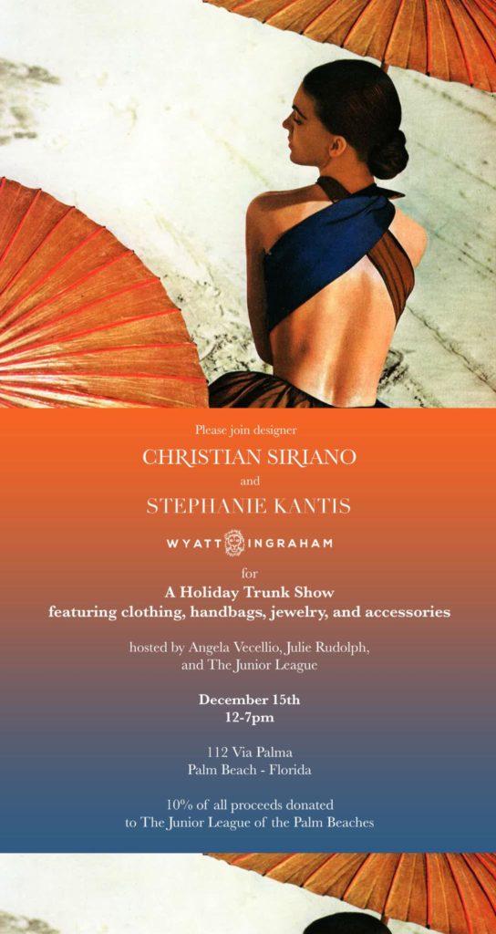 Christian Soriano/Stephanie Kantis Trunk Show 2016