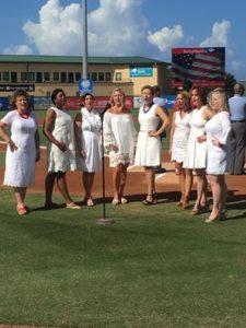Belles Singing National Anthem 7-18-16